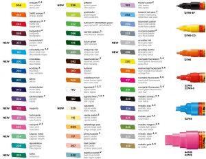 couleur feutre molotw one4all